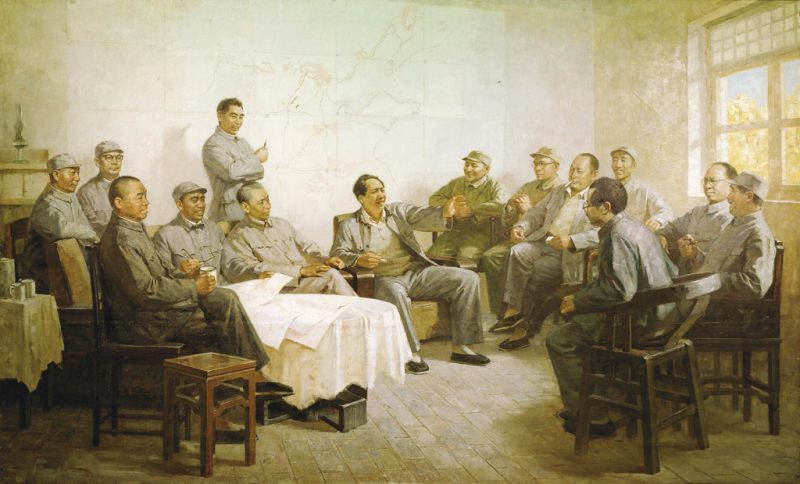 23_Yin-Rongsheng_Seizing-the-Victory---Chairman-Mao-with-the-Army-Marshals,1980