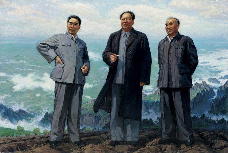 25_Su-Gaoli--Du-Jian--Gao-Yaguang_Chairman-Mao,Premier-Zhou-and-the-Leader-of-the-Committee-Zhu,1977