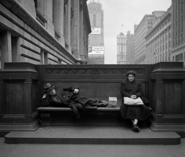 GTB_Harold_Feinstein_Sharing_a_Public_Bench_1949