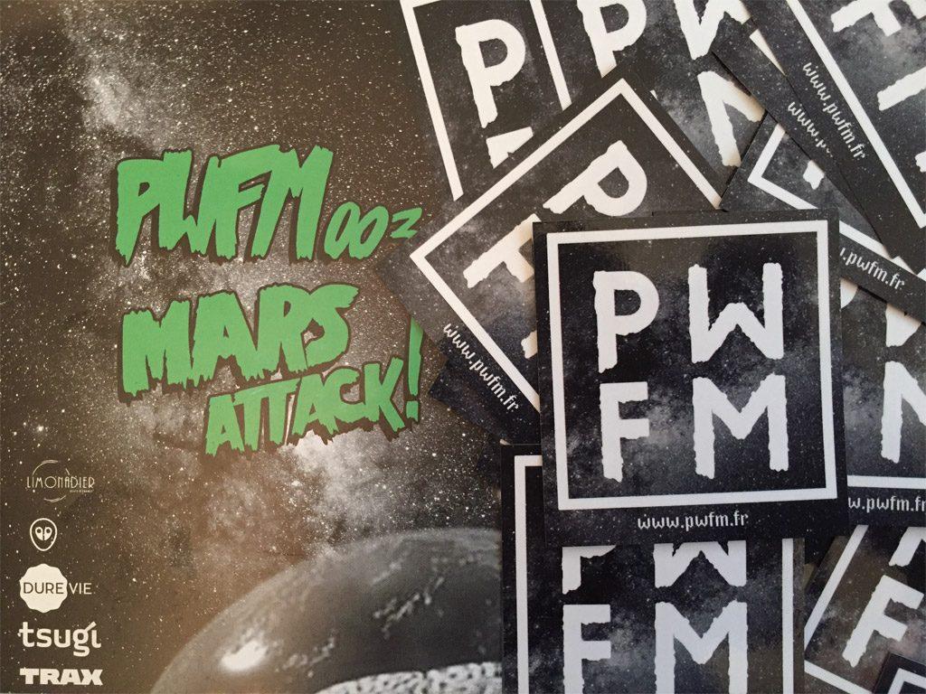 Glazart accueille PWFM pour une soirée Mars Attack