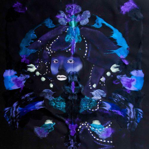 kimiko_yoshida_rorschachyoshida_xxxiii_king_of_france_francois_i_l_2016_phosphorescent_paint_glitter_andacrylic_on_long-life_pigmented_print_on_matt_canvas_140_x_140_cm_courtesy_galerie_dukan