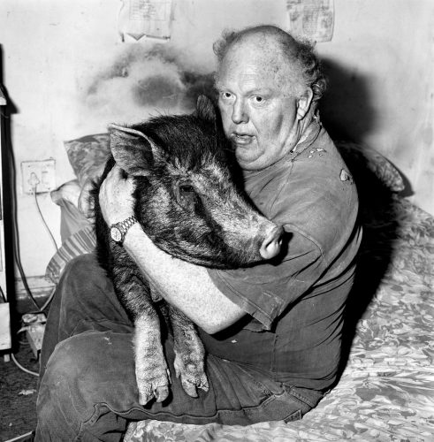RB1--Brian-with-Pet-Pig-(c)-Roger-Ballen