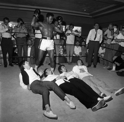 Les-Beatles-et-Cassius-Clay,-Miami,-février-1964