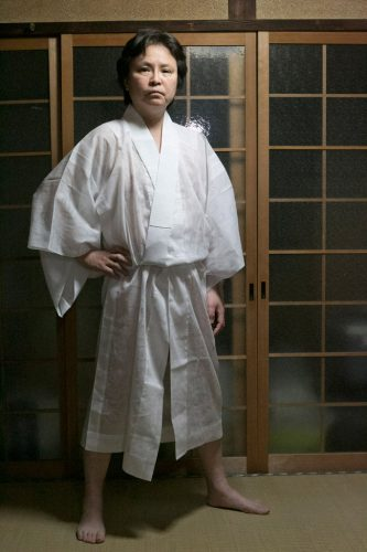 7)-Tatuski-in-woman's-white-kimono,-one-of-four