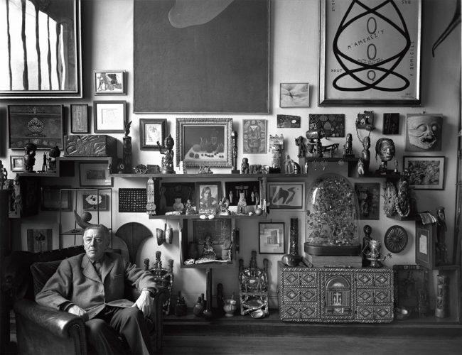 AndrÇ-Breton-dans-son-atelier,-Paris,-1955-∏-Sabine-Weiss