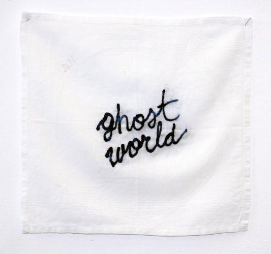 Céline-Tuloup-ghost-world---série-Les-pleursde-l'aube---broderie-sur-mouchoir---2016