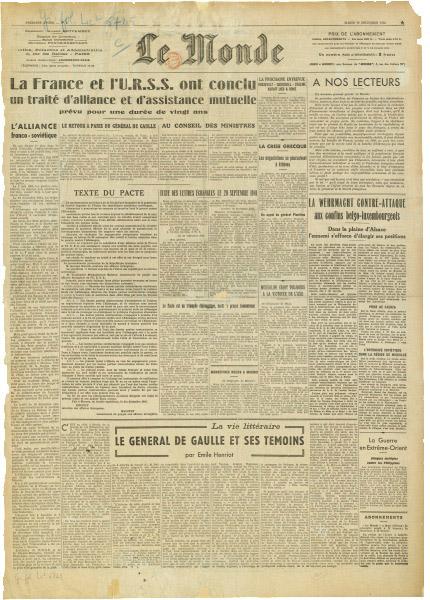 Ephéméride (1944) : Naissance du Monde