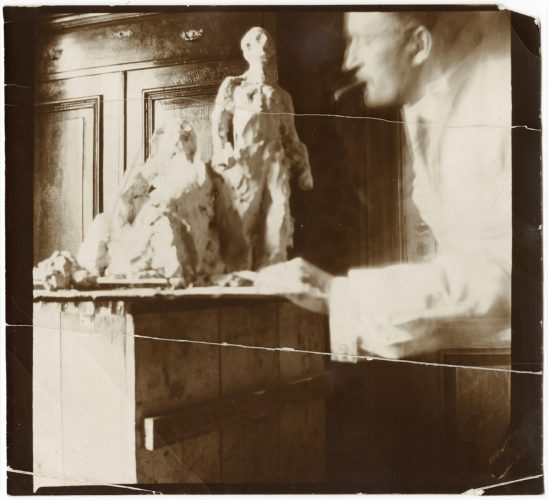 Edvard-Munch-Self-Portrait-with-Model-for-a-National-Monument
