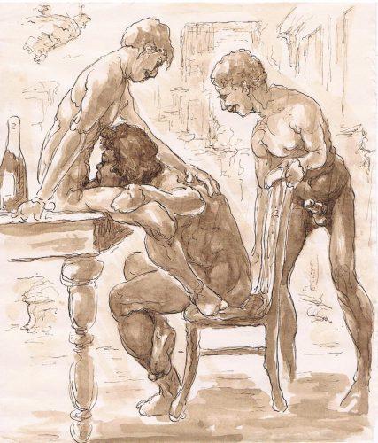 Jeu-à-trois-hommes,-1920
