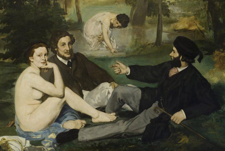 manet---dejeuner-sur-l-herbe-1863-Paris,-Musee-d-Orsay-(detail)