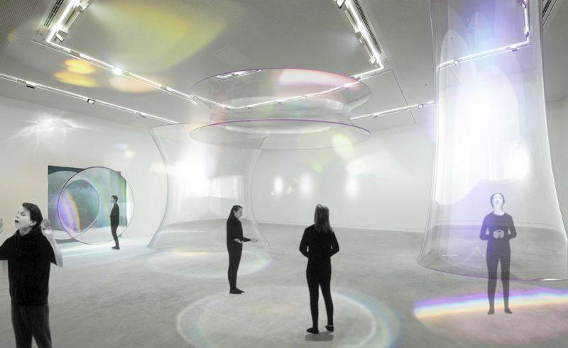 3--Mel-O'Callaghan,-Respire,-Respire,-2018,-Installation,-trois-sculptures-en-verre,-Performance
