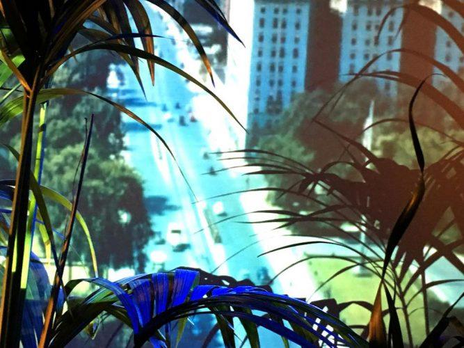 OVNIBeatrice-Utrilla,-vue-d'installation-Ces-Images,-presentee-par-Pink-Pong-a-l-hotel-Villa-Rivoli
