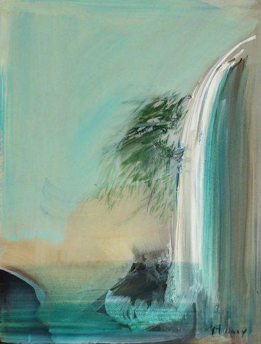 Benedicte-PLUMEY---Aux-sources-du-Nil----huile-sur-papier---27x22cm---2018