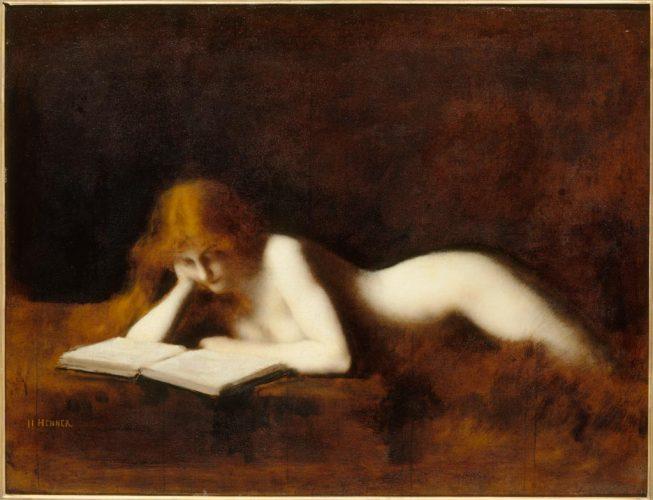 JJ-HENNER-_-LA-LISEUSE,-1883