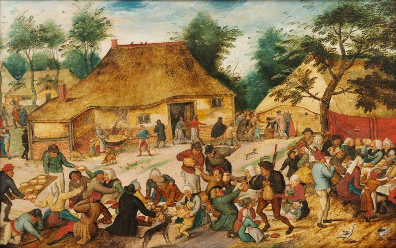 Pieter-Brueghel-le-Jeune-Fete-villageoise-dev-ant-une-fermeMaastricht-Bonnafantenmuseum-