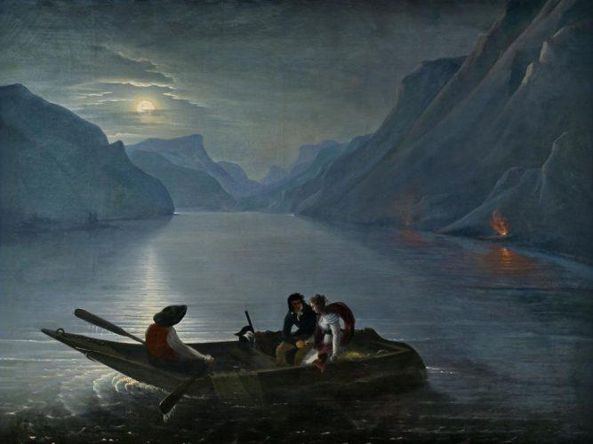 8.-Charles-Edouard-Leprince,-Promenade-de-Juli-e-et-Saint-Preux-sur-le-lac-de-Genève,-1824