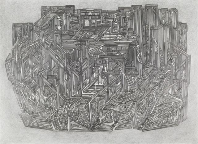 Raha-Raissnia,-Circumfluent,-2005,-graphite-sur-papier,-108x-142,5-cm-(C)-Galerie-Xippas,--courtesy-of-the-artist--1