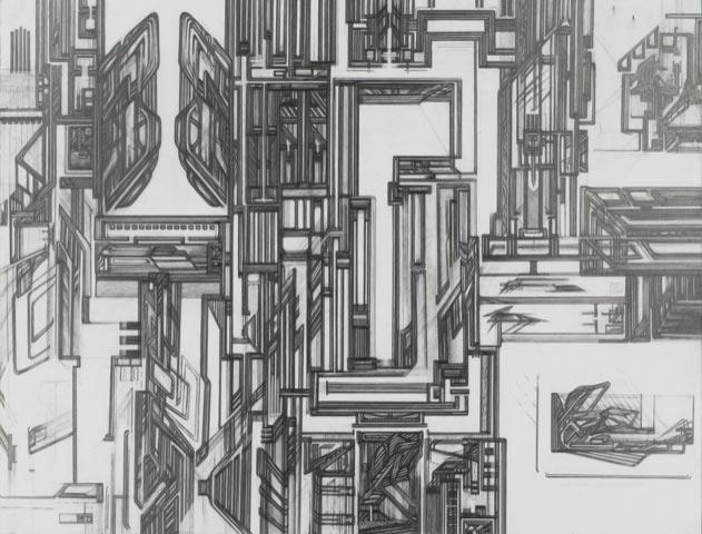 Raha-Raissnia,-Metallurgical-Rev-eries,-2005,-graphite-sur-papier,-95,5-x-126-cm-©-Galerie-Xippas,-courtesy-of-the-artist--1