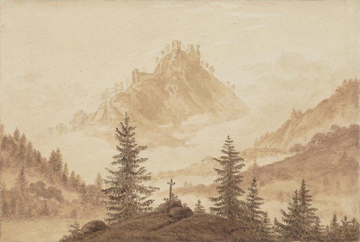 friedrich_paysage_de_montagne_avec_croix_au_milieu_des_sapins_vers_1804-1805