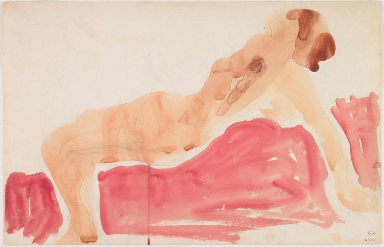 Arian-crayon-graphite-et-aquarelle-sur-papier-filigrane-créme-@musée-Rodin-ph-Jean-de-Calan