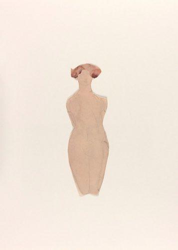 Femme-nue-agenouillée-de-face-crayon-graphite-et-aquarelle-sur-papier-vélin-découpé-@musée-Rodin-ph.-Jean-de-Calan