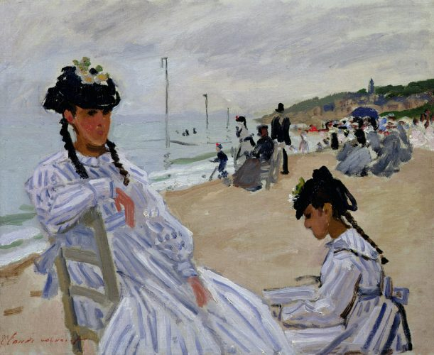 Giverny-Pleinair-Monet_sur-la-plage-à-trouville