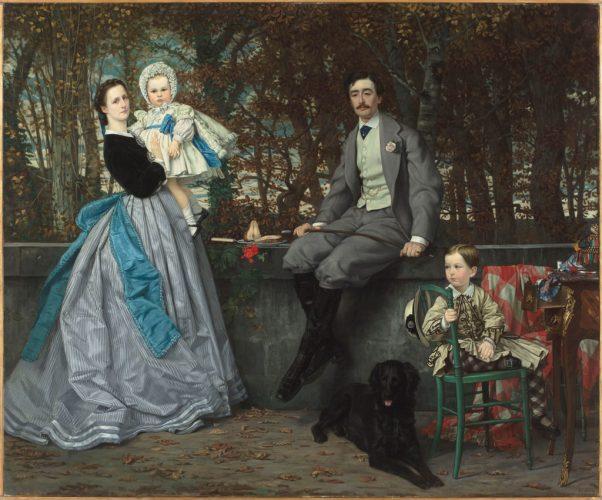 01.-James-Tissot,-Portrait-du-marquis-et-de-la-marquise-Miramon-et-de-leur-enfants