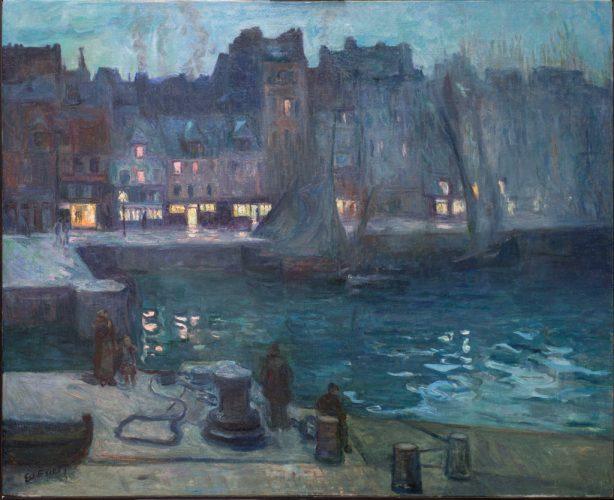 NI-Othon-Friesz--Le-Vieux-bassin-du-Havre-le-soir