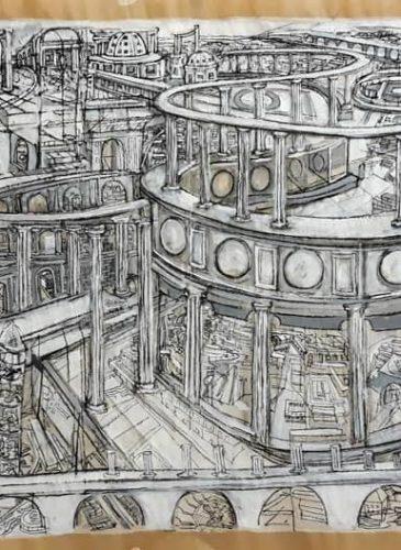 DDESSINGiancarlo-Mustich,-Sans-titre,-2019,-Acrylique-sur-papier-kraft,-100-x-200-cm,-Courtesy-ArtGamma,-Paris